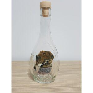 Sticla decorativa Caine cu Rata